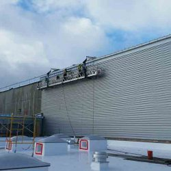 bonded sheet metal commercial seamless roofing installation seattle portland pacific northwest centralia community college
