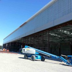 warehouse professional commercial preformed metal siding installation