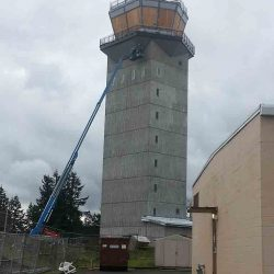 air traffic control tower composite panels metal roofing installation